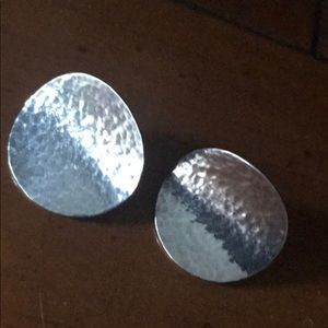 James Avery Hammered Disc Earrings